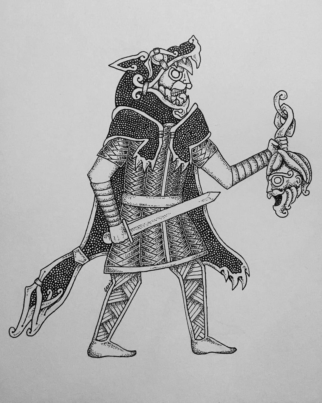 Ulfhedinn Ulfhedinn Ulfhednar Wolf Warrior Vikings Vikingart Vikingstyle Draw Drawing Instadraw Sketch Norse Tattoo Nordic Tattoo Viking Art