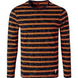 Cinque Langarm-T-Shirt Herren, Baumwolle, blau Cinque