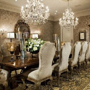Two Chandeliers Design Ideas Pictures Remodel And Decor Luxury Dining Room Classic Dining Room Dining Room