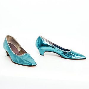 60s Metallic Pumps Blue now featured on Fab.