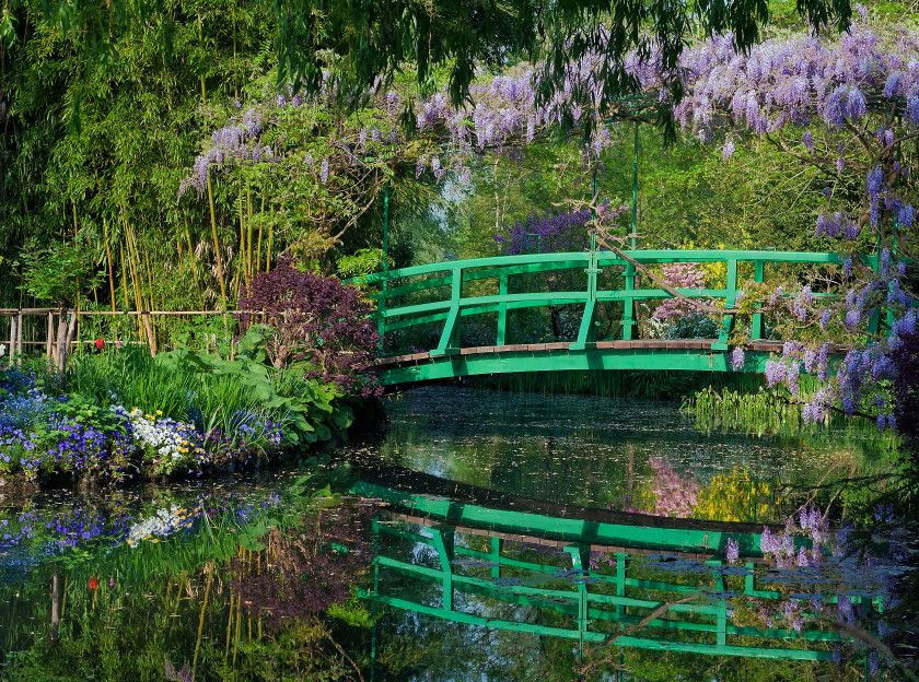 Japanese Bridge Garden Claude Monet, Giverny, France