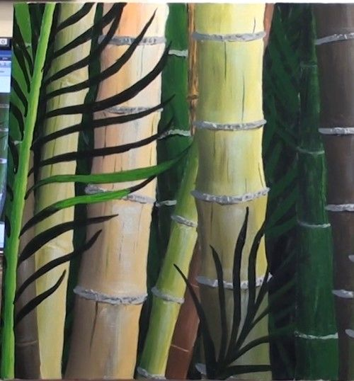 Free Painting Lesson How To Paint Bamboo In Acrylic Online Art
