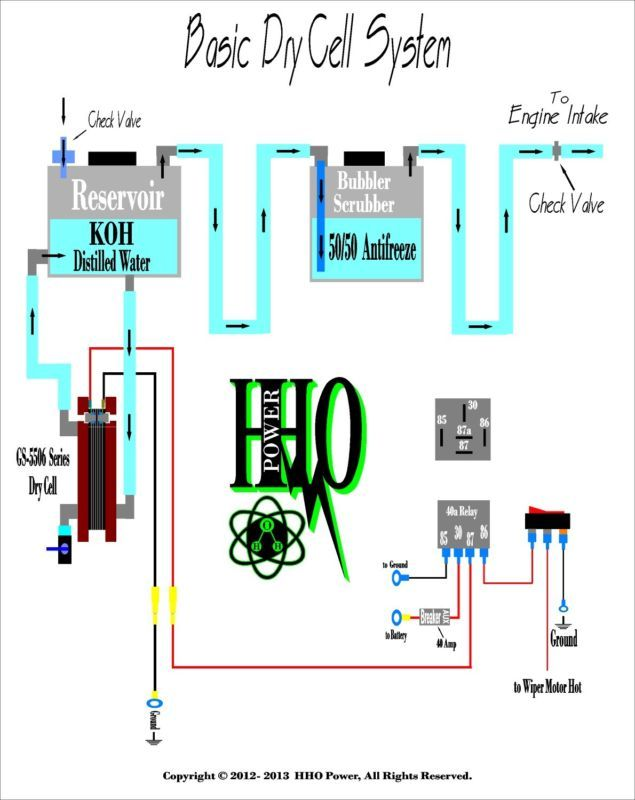hydrogen dry cell generator hydrogen on demand hho bubbler hho rh pinterest co uk Relay Switch Wiring Diagram Relay Switch Wiring Diagram
