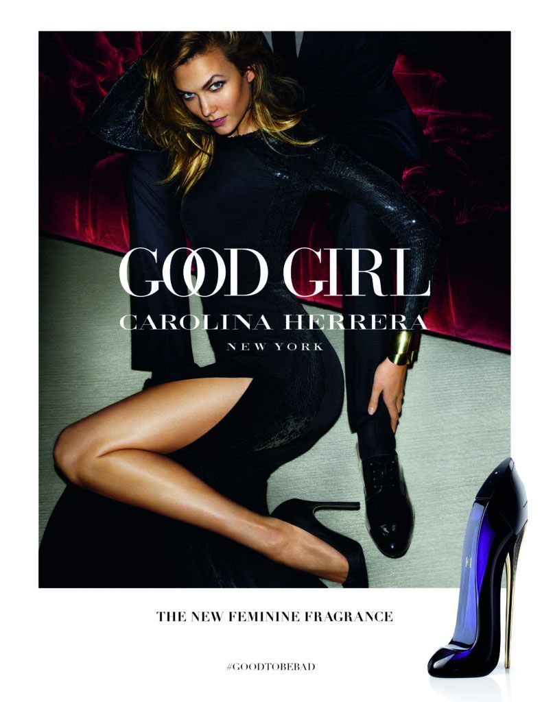 96b1d91ede Karlie Kloss Seduces in Carolina Herrera  Good Girl  Fragrance Ad ...