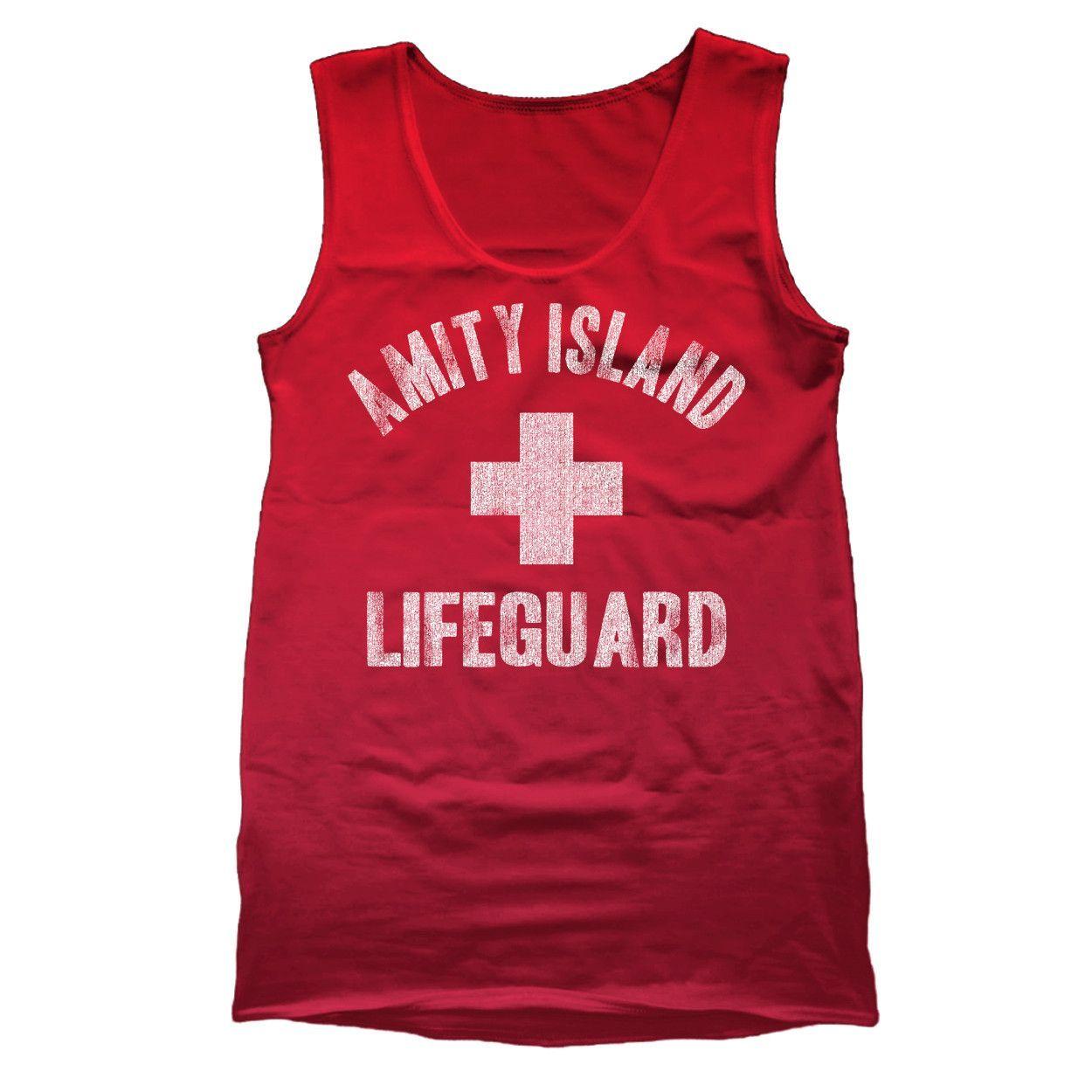 18cba7eb469f85 Amity Island Lifeguard Tank Top