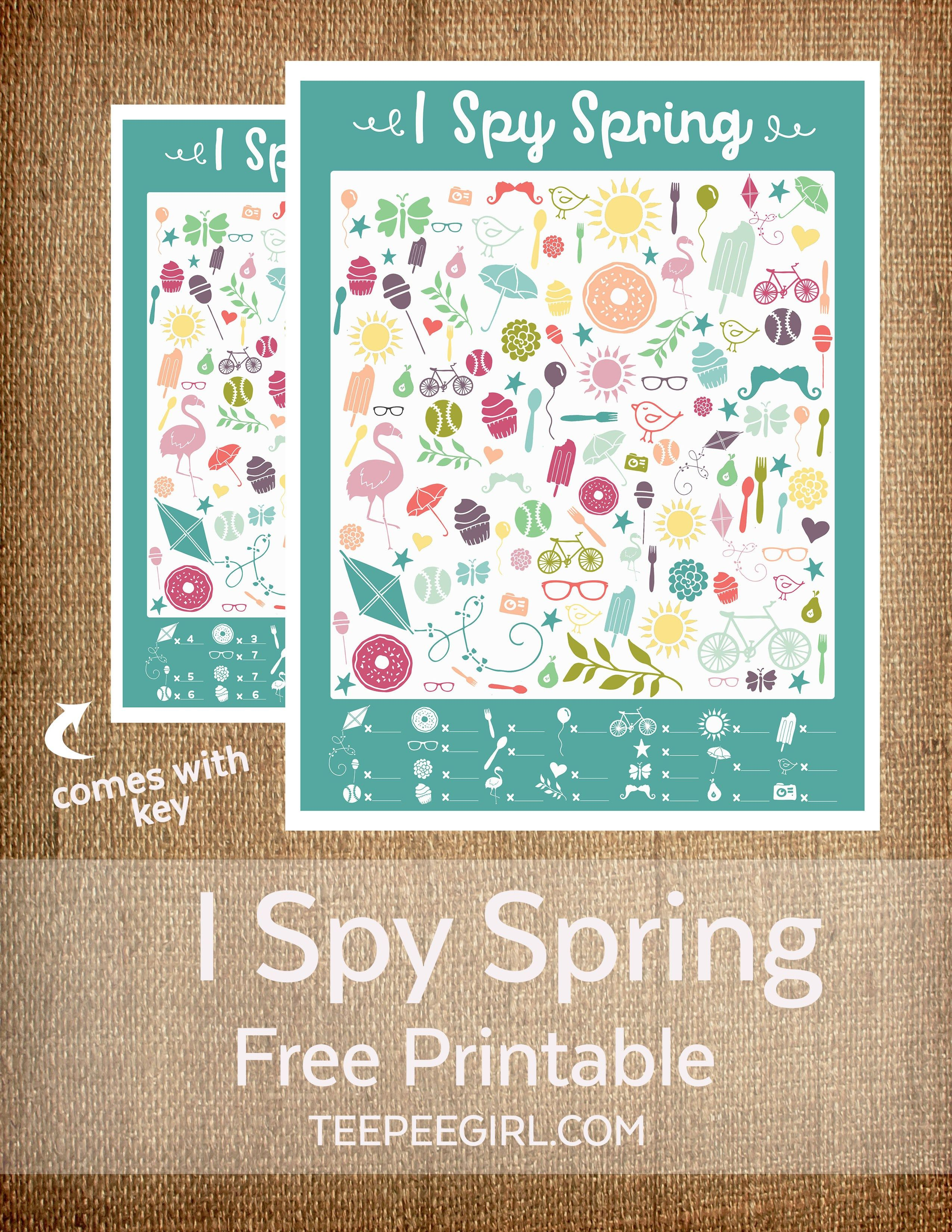 I Spy Spring Printable Game