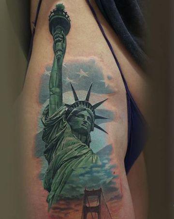 Tatuajes De La Estatua De La Libertad Para Hombres Tatuajes Para