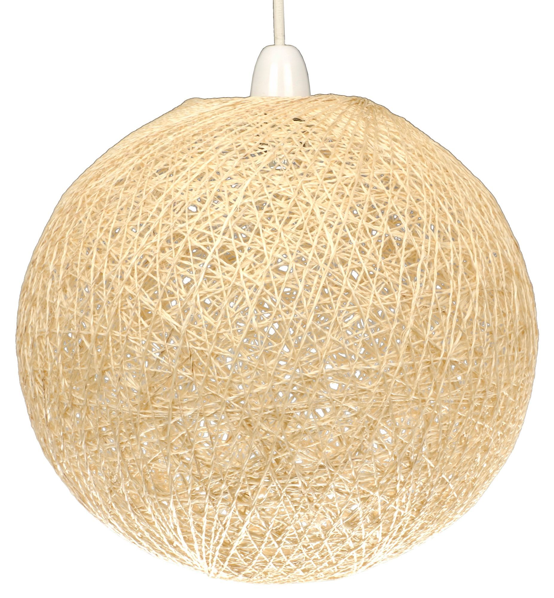 Abaca beige twine ball pendant light shade d280mm pendant lights by bq abaca beige twine ball light shade dia280mm departments aloadofball Images