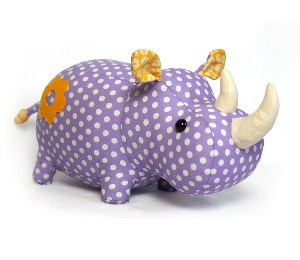 Rhino Fluffy (softie) sewing pattern by DIY Fluffies | The best ...