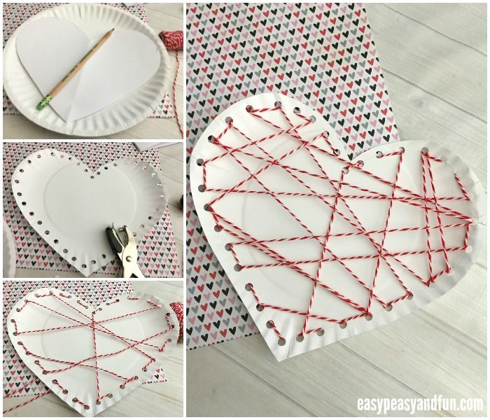 Threaded Heart Paper Plate Craft for Valentines Day  sc 1 st  Pinterest & Threaded Heart Paper Plate Craft for Valentines Day | Paper plate ...