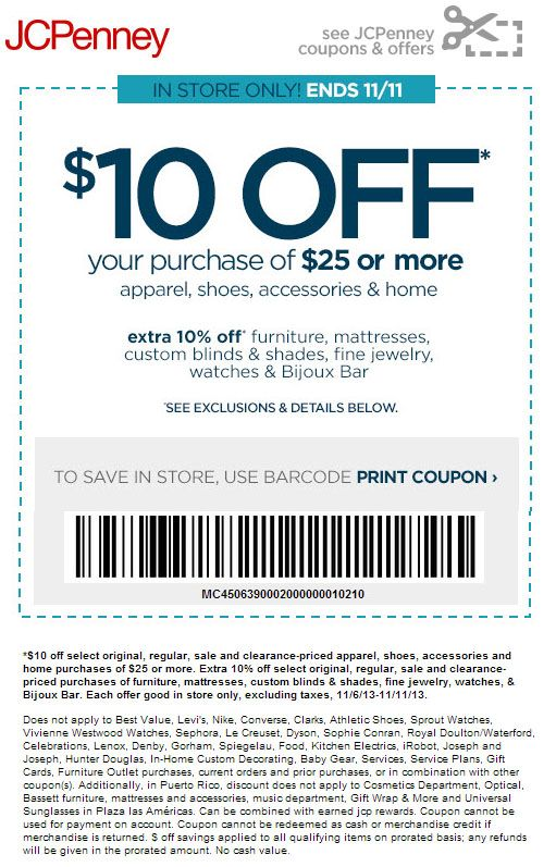 ebba3e49dfad7 JCPenney   10 off  25 Printable Coupon