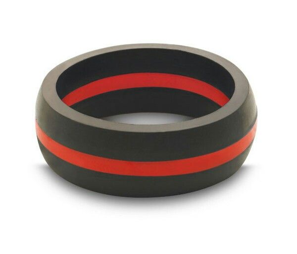 QALO Mens Thin Red Line Silicone Ring 2499 Wedding Ideas