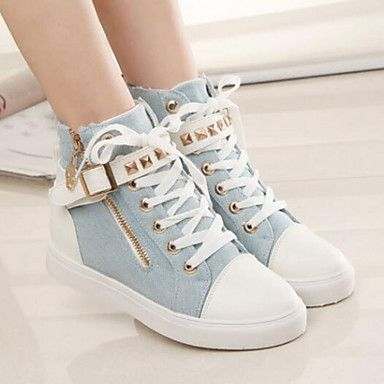 Women's Shoes Comfort  Round Toe Low Heel Canvas Fashion Sneakers Shoes More Colors available – USD $ 19.99