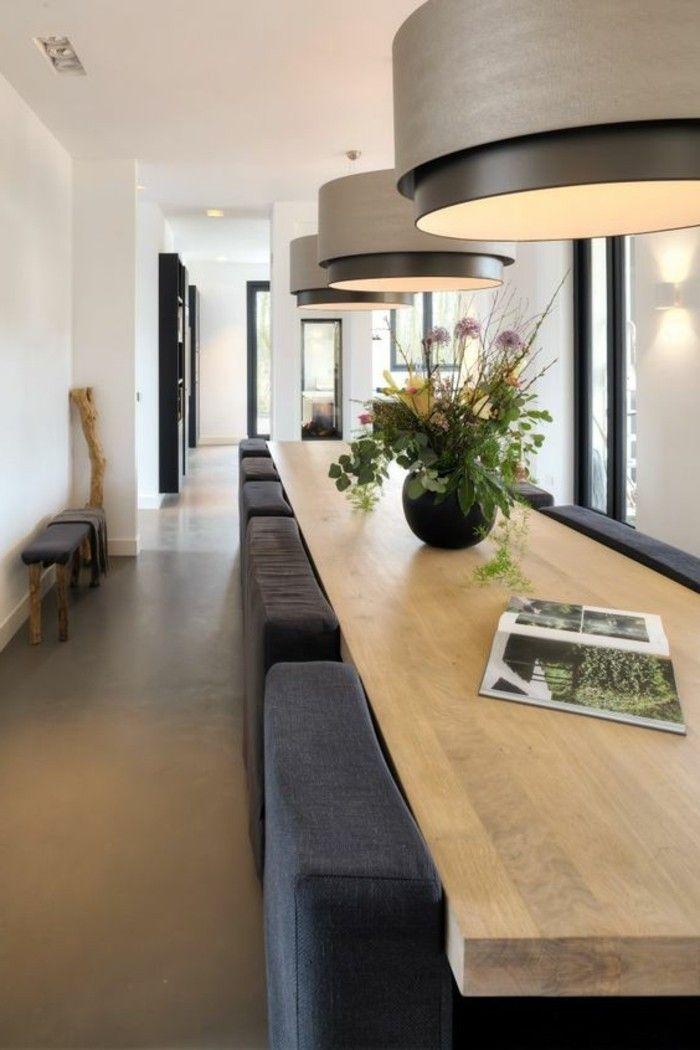 Idées Pour Aménager Une Chambre En Longueur Des - Salle a manger bois clair pour idees de deco de cuisine