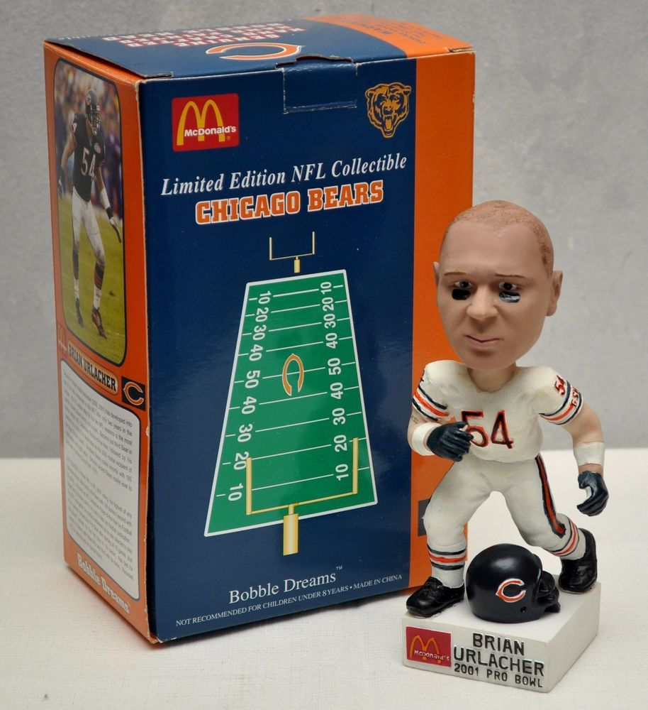 Limited Mcdonald S Nfl Chicago Bears Bobble Head Brian Urlacher 2001 Pro Bowl Nfl Chicago Bears Chicago Bears Logo Chicago Bears