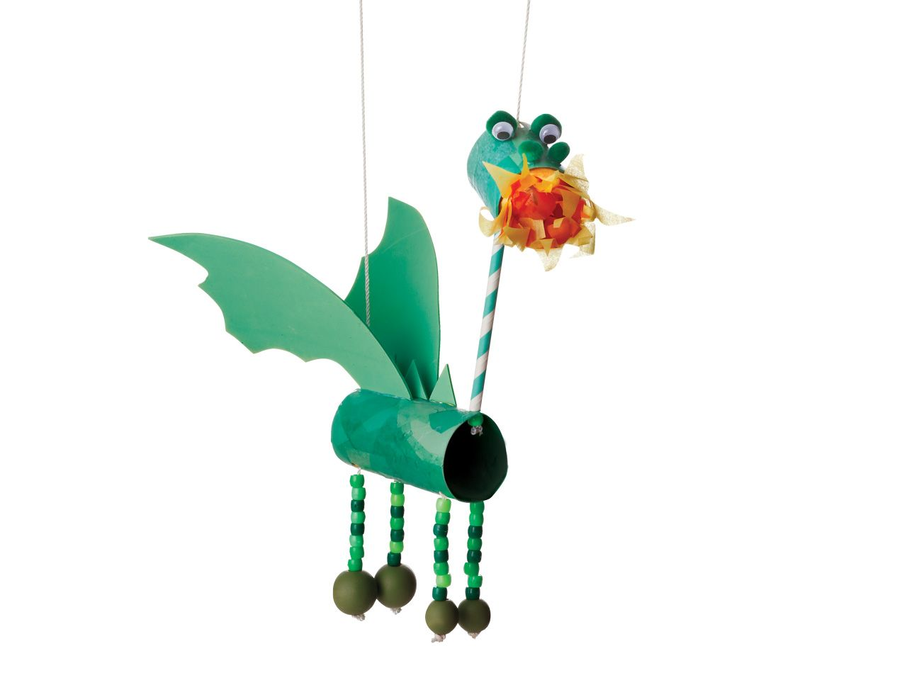Recycled crafts: How to make a dancing dragon marionette