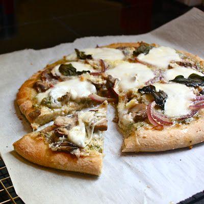 Pesto Portobello Pizza