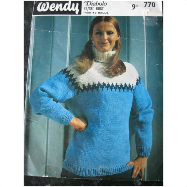 "Vintage Wendy knitting pattern 770 ladies sweater Bust 32"" - 38"" on eBid United Kingdom"
