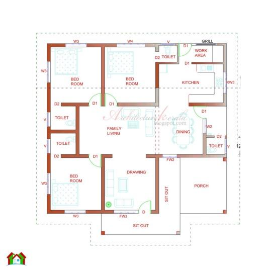 Image result for 128 sq meters floor plan rohim for Small house design in nepal