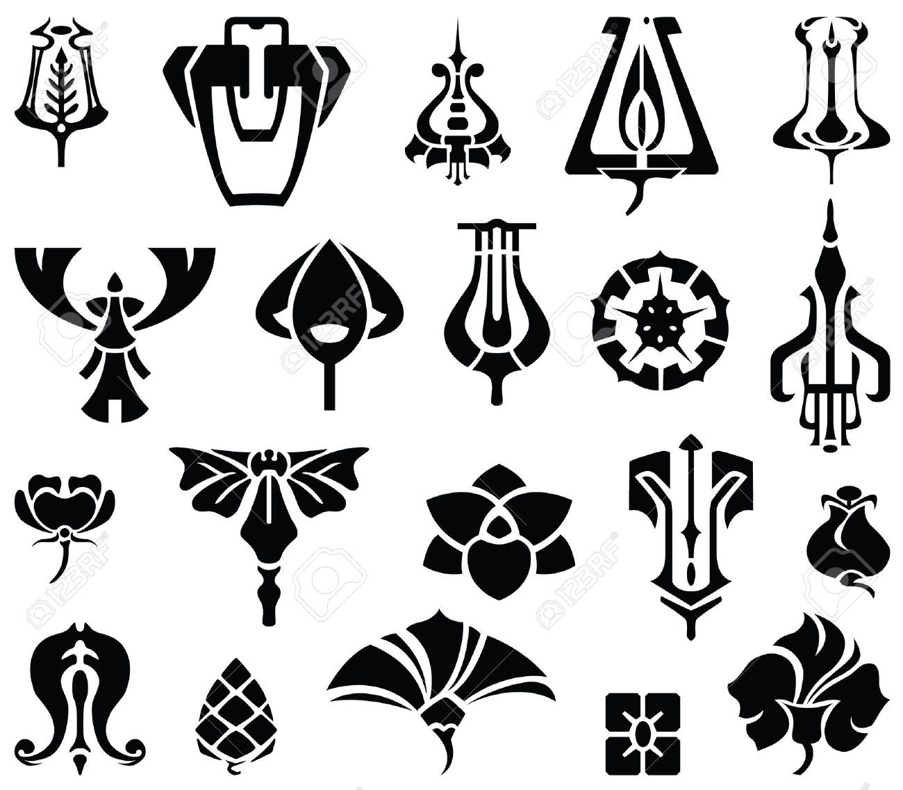 Art deco line designs google search i found these and for Art decoration pdf