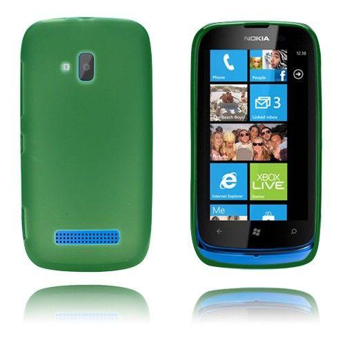 GelCase (Vaaleanvihreä) Nokia Lumia 610 Suojakuori