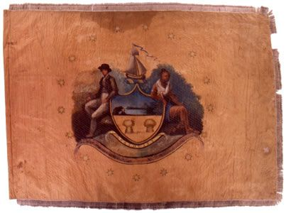 Albany Co. Militia Regimental Colors. My 6th Great grandfather enlisted at 15 in 1776.