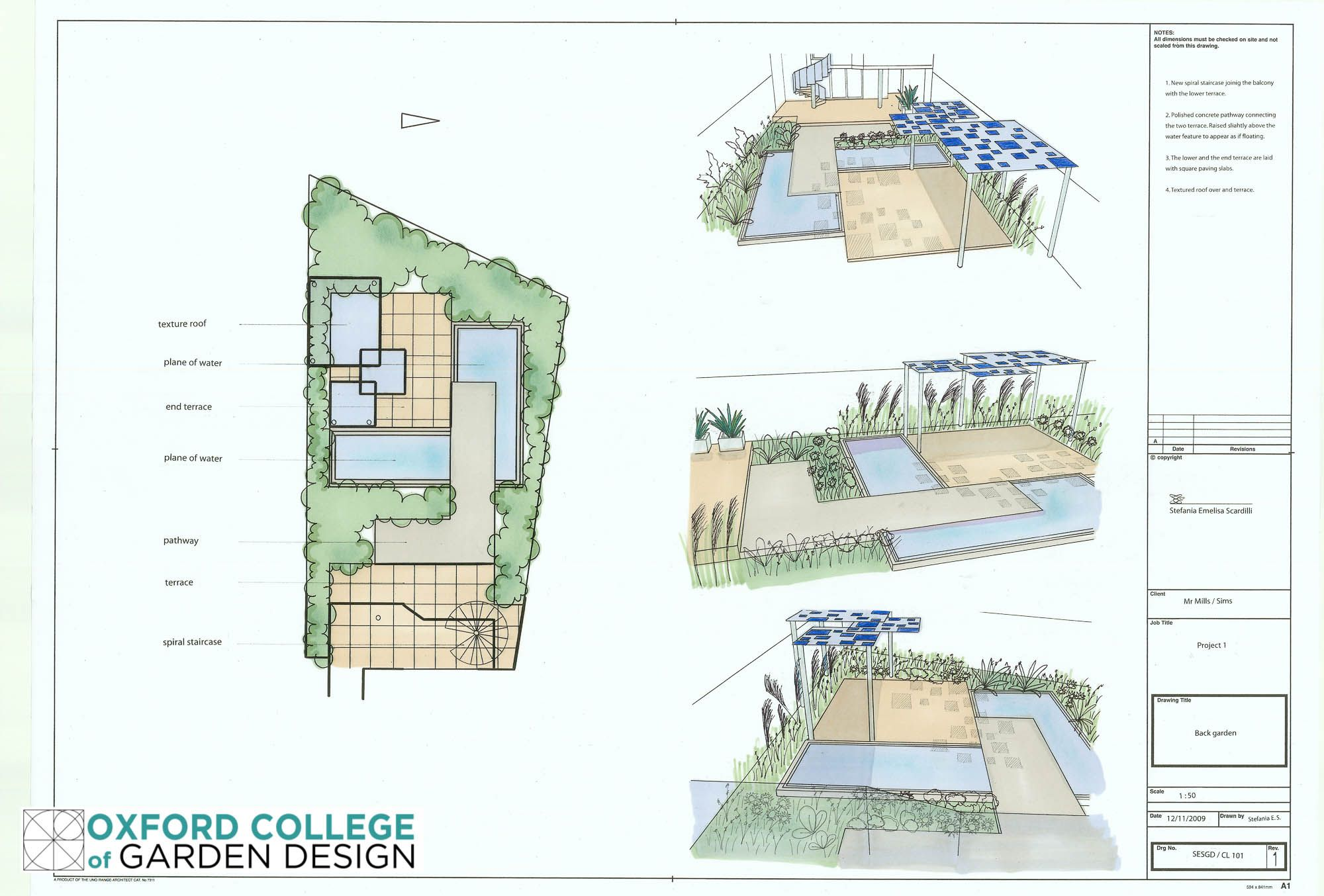 Project 1 Courtyard Garden Comprising Sketch plan Bubble Diagram