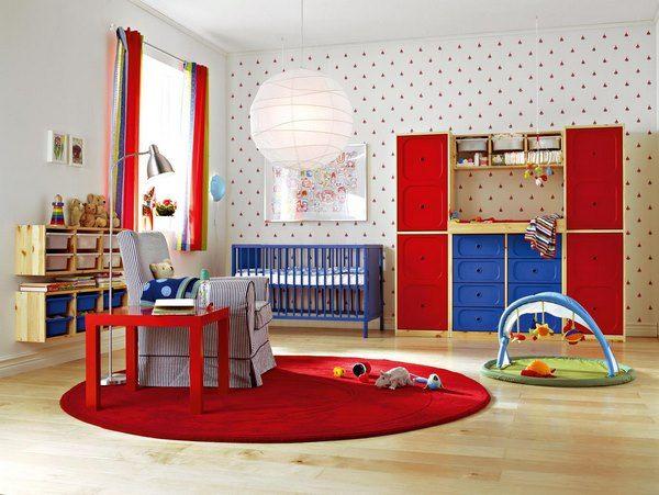 Nursery Room Decorating Ideas Round Red Area Rug Wallpaper Kids Bedroom Nursery Room Design Dec Kid Room Decor Toddler Bedroom Sets Kids Bedroom Designs