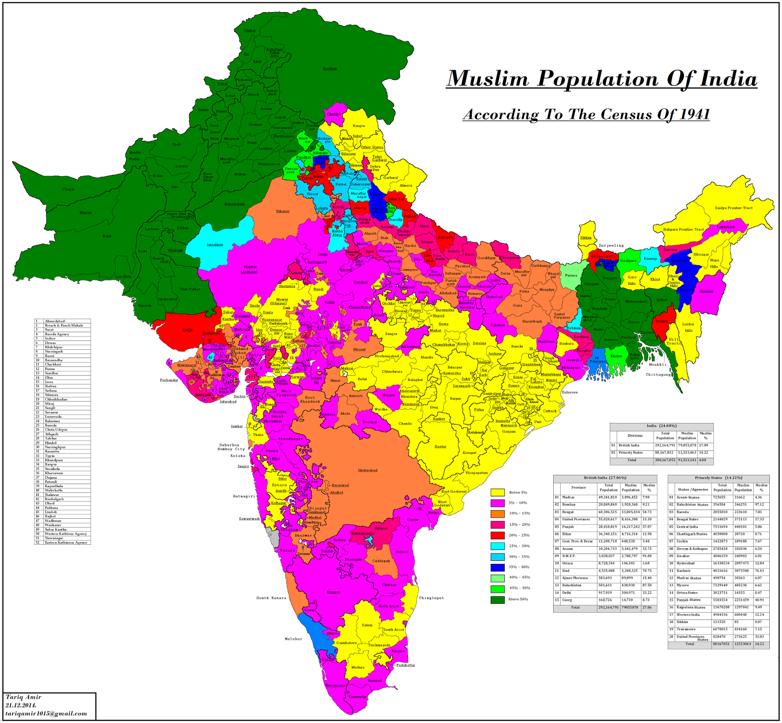 Muslim Population Of India In 1941 Population Of India India Map African Ancestry