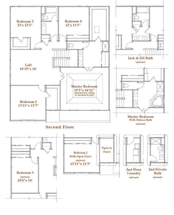 Columbus Oh Preston Trails Newport Westport Homes House Floor Plans Floor Plans