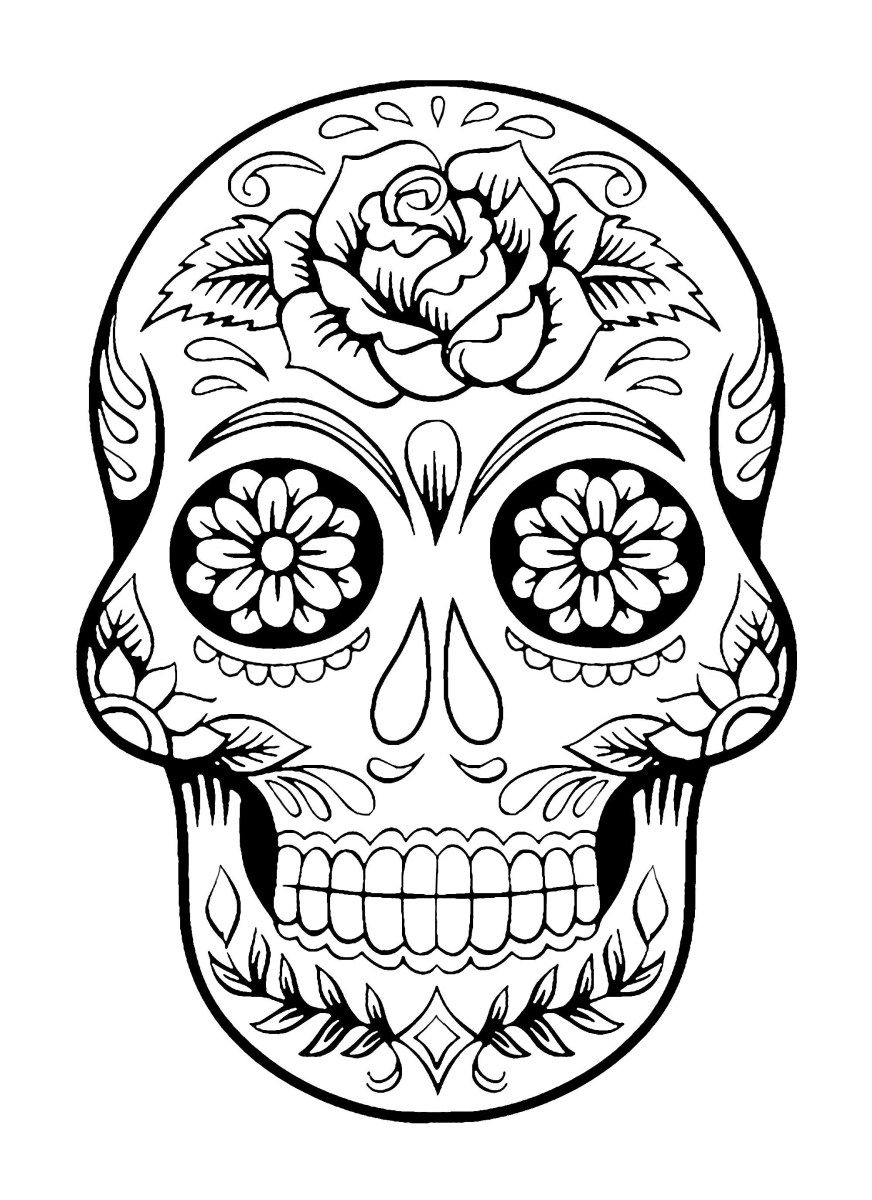 Day Of The Dead Coloring Pages El Dia De Los Muertos 4 El ...