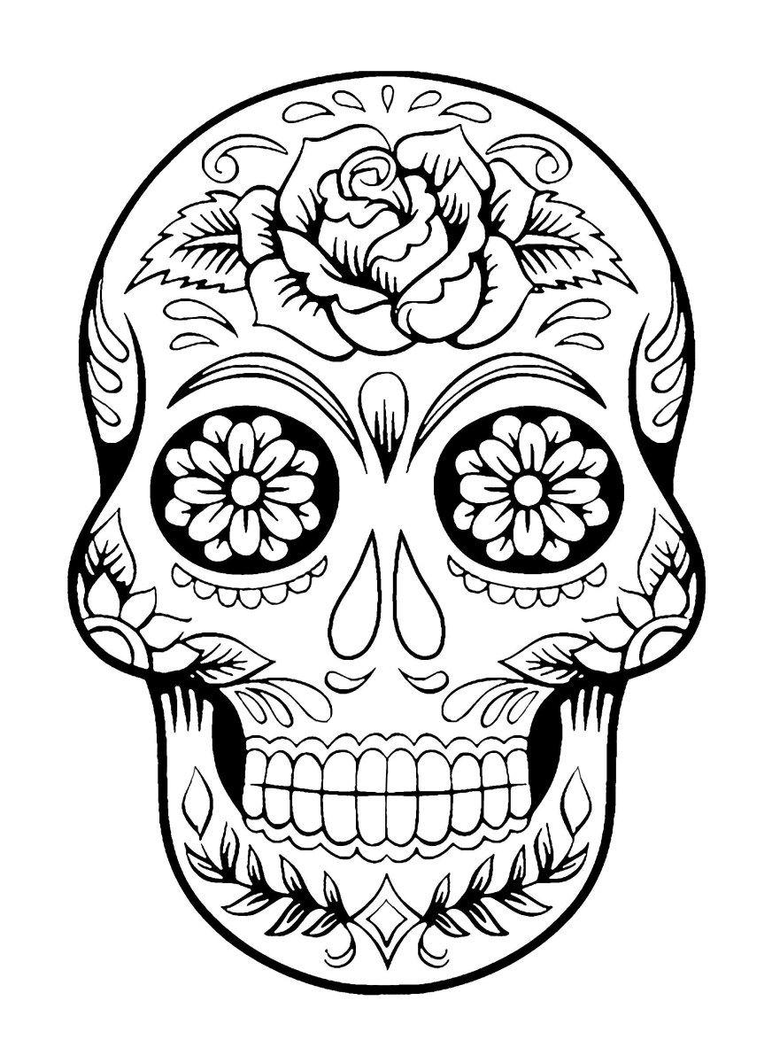 Day Of The Dead Coloring Pages El Dia De Los Muertos 4 El