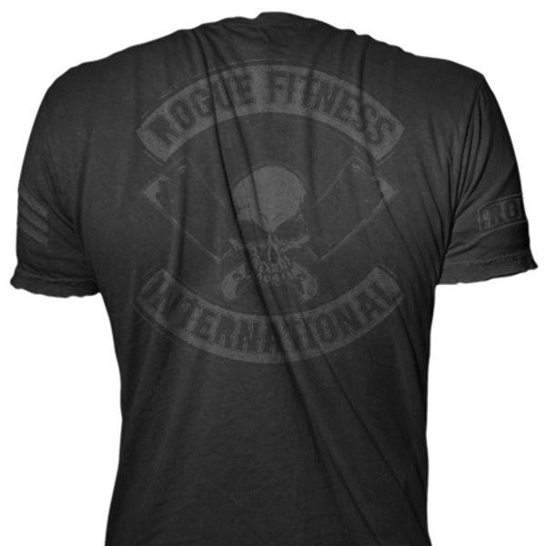 Matte Black on Black Rogue International Shirt - Rogue Fitness ...