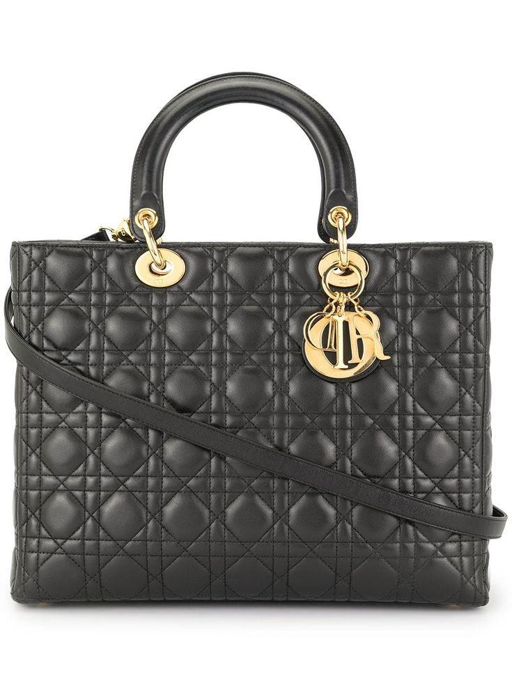 CHRISTIAN DIOR PREOWNED Lady Dior 2way Hand Bag  Black CHRISTIAN DIOR PREOWNED Lady Dior 2way Hand Bag  Black