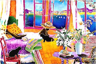 Artist Jennifer Markes -- Room With A View -- Giclee, 1998 S/N 175
