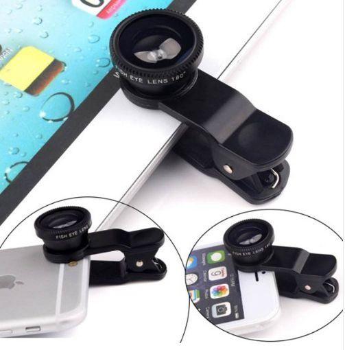 Universal 3-in-1 Wide Angle, Macro & Fisheye Lenses for Smartphones