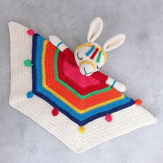 Inka The Little Llama Security Blanket pattern by Alanna O'Dea #securityblankets