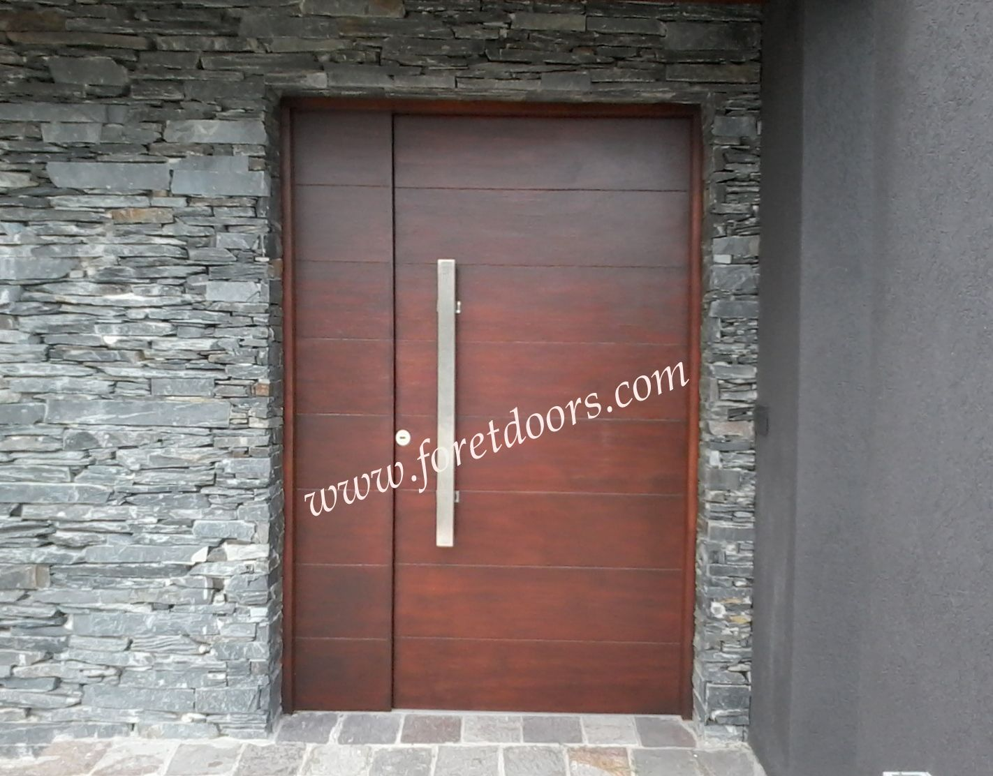 Nice Modern Front Door With Flat Pull