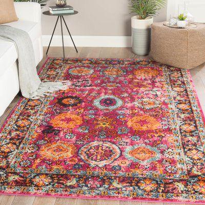 Bungalow Rose Finkbeiner Medallion Pink Orange Area Rug Wayfair In 2020 Orange Area Rug Area Rugs Rugs On Carpet