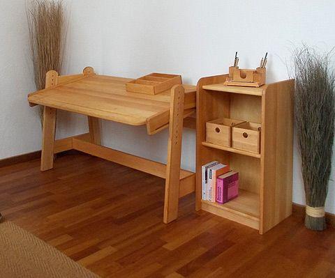 schreibtisch bj rn mit regal erle naturm bel kinderschreibtische pinterest tisch. Black Bedroom Furniture Sets. Home Design Ideas