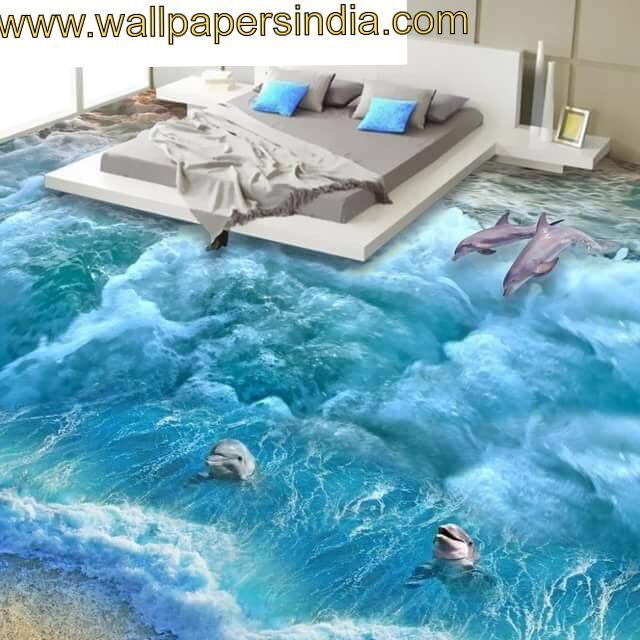 Wallpapers India Deals With Decorative Wallpapers For Living Room Bedroom Kitchen Kids Room Bathroom Etc Floor Murals Floor Wallpaper Floor Art