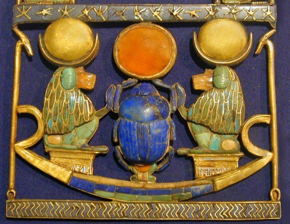 *TUTANKHAMUNS TOMB KV62 ~  Although Howard Carter estimated that 60% of the jewlery was stolen when the tomb was robbed shortly after the death of King Tutankhamun's the remainder show the high standard of the Jewelry originally in the tomb.