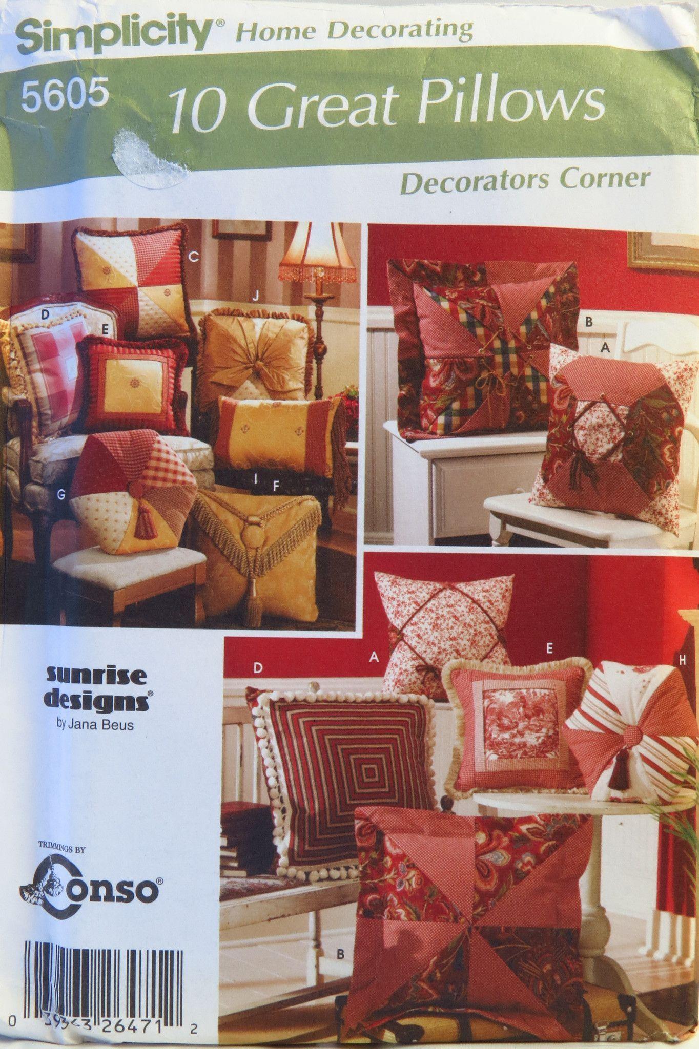 Decorating Pillow Pattern #DecorativePillowsCouchPlayrooms. Decorating  Pillow Pattern #DecorativePillowsCouchPlayrooms Mccalls Sewing Patterns ...