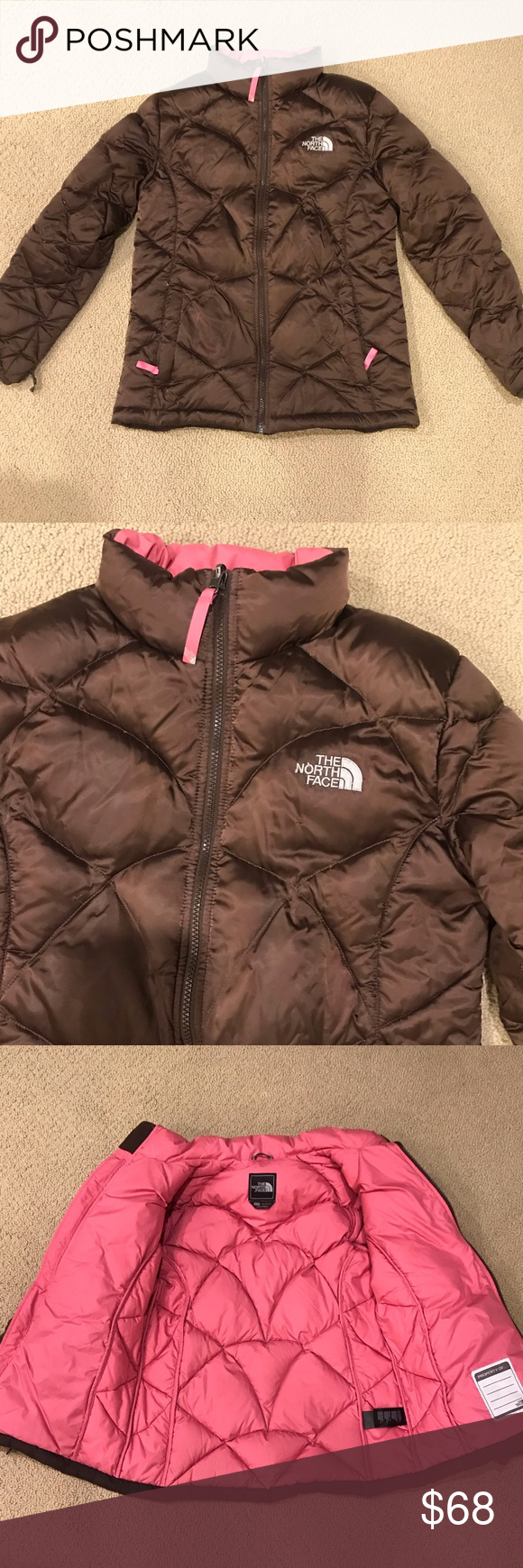 The North Face Brown And Pink Puffer Ski Jacket Ski Jacket Kids North Face North Face Jacket [ 1740 x 580 Pixel ]