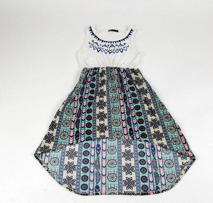 7ab0ffe099be Miss Majesty Girl Dress Summer Asymmetrical Dress Size 6-7