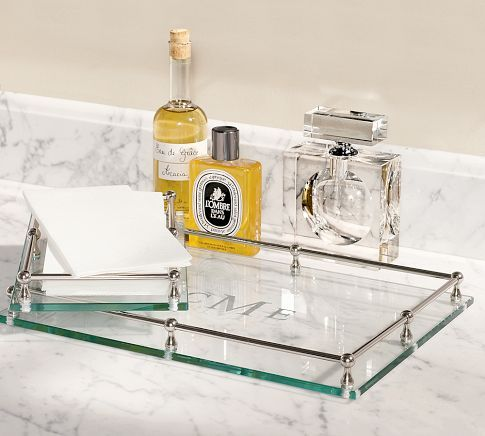 Bathroom Vanity Tray glass tray <3 i want this for my perfumes | for the home