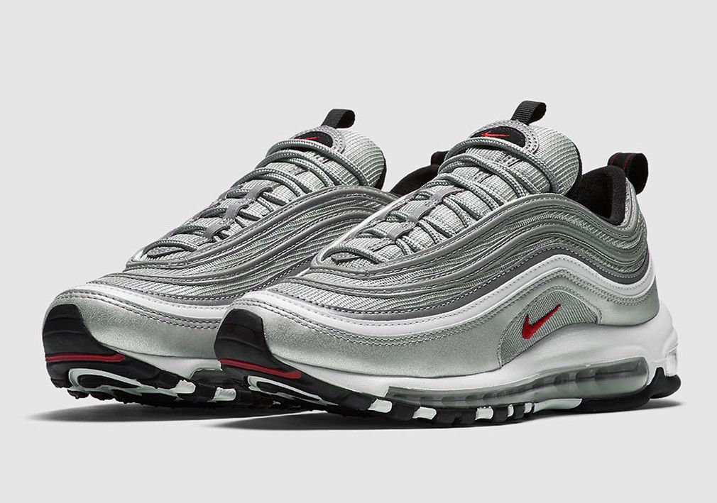 Nike Air Max 97 Silver Bullet, Pink, Black (Womens & Mens)