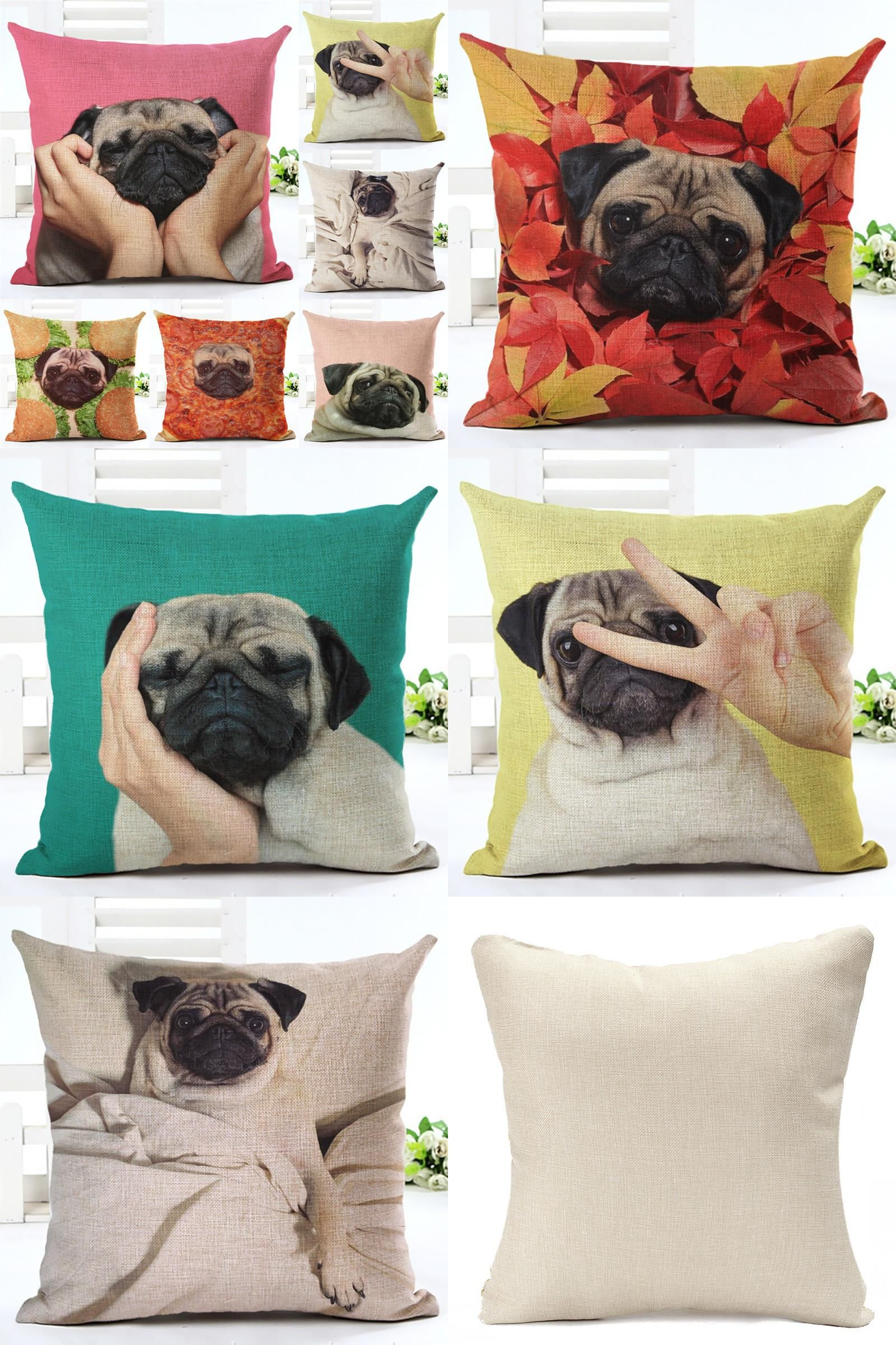 Visit to Buy] Fashion Animal Cushion Cover Funny Dog Pattern