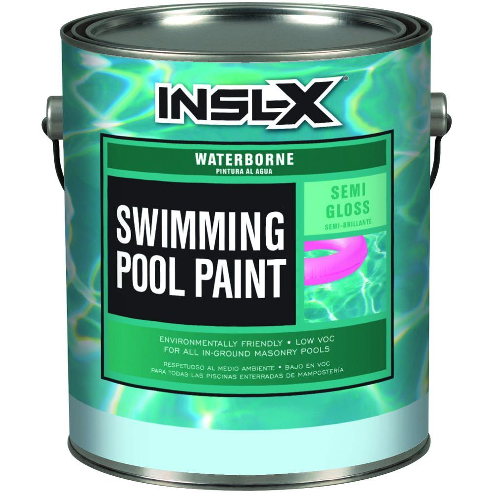Insl X 1 Gal Semi Gloss Water Ocean Blue Swimming Pool Paint Wr1023 The Home Depot Pool Paint Pool Plaster Swimming Pools
