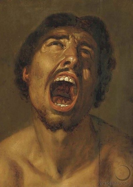 (After) Annibale Carracci | A man shouting | Oil on canvas